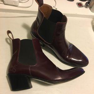 John Fluevog Maroon Chelsea Boots